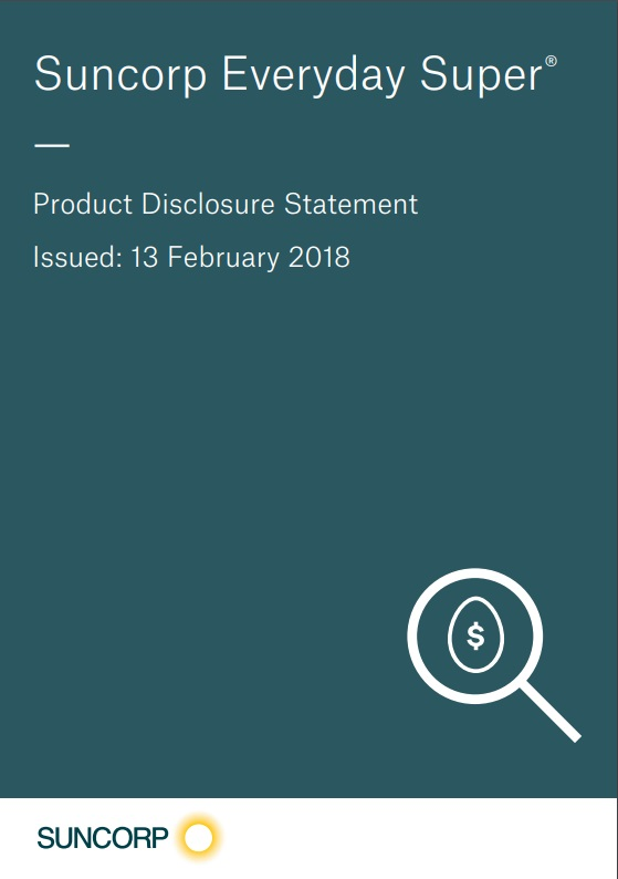 Product Disclosure Statement, Suncorp Everyday Super