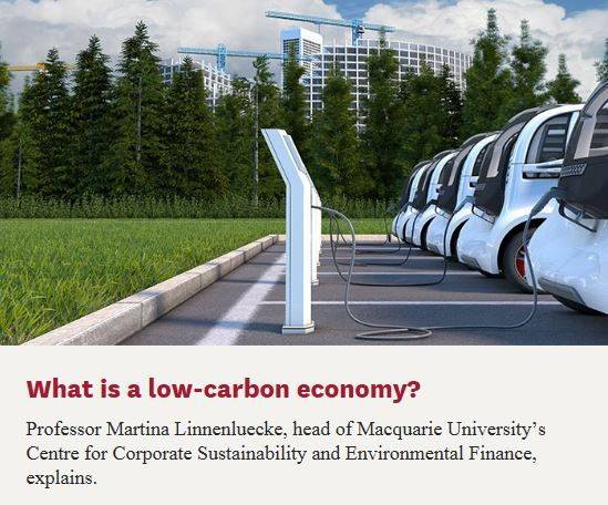 What is a low-carbon economy?